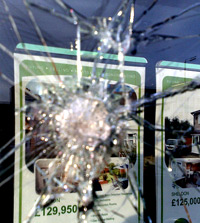 Estate agent window smashed