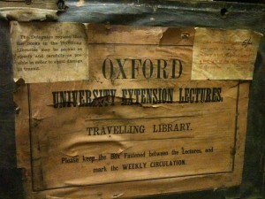 The interior label from an early book box