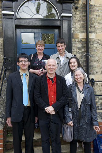 The winners of the Maths in the City competition, with Marcus du Sautoy