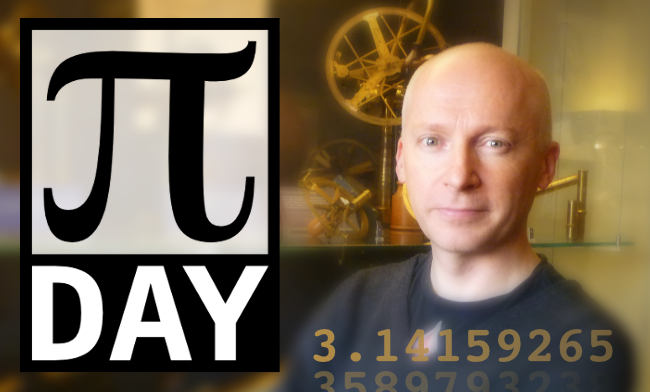 Marcus du Sautoy and the Pi Day Live logo